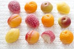 Frutas del mazapán fotografía de archivo libre de regalías
