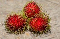 Frutas del Rambutan foto de archivo