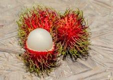 Frutas del Rambutan imagenes de archivo