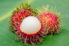 Frutas del Rambutan fotos de archivo libres de regalías