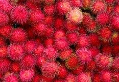Frutas del Rambutan fotografía de archivo libre de regalías