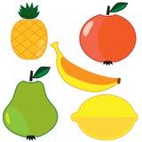 Frutas del vector fijadas ilustración del vector