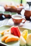 Frutas deliciosas para o pequeno almoço Imagem de Stock Royalty Free