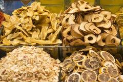 Frutas deliciosas secadas Fotografía de archivo
