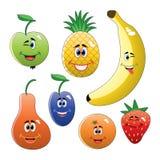 Frutas divertidas coloridas Foto de archivo