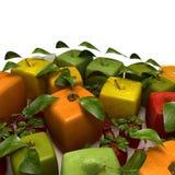 Frutas do Cubist Fotografia de Stock Royalty Free