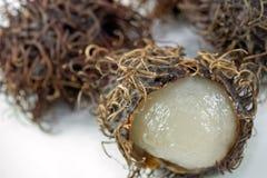 Frutas do Rambutan imagens de stock