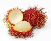 Frutas do Rambutan fotografia de stock
