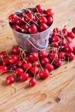 Frutas do verão - cerejas Foto de Stock