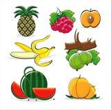 Frutas do verão isoladas no fundo branco Foto de Stock Royalty Free