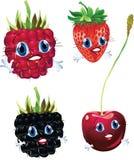Frutas dos desenhos animados Fotografia de Stock