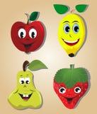 Frutas dos desenhos animados Imagem de Stock