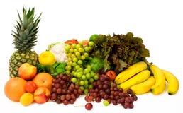 Frutas e alguns vegetais Foto de Stock Royalty Free