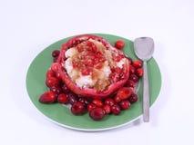 Frutas e arroz vermelhos Imagem de Stock