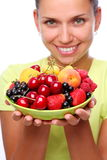 Frutas e bagas fotografia de stock