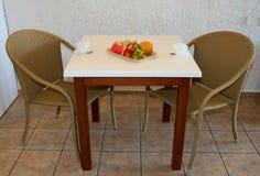 Frutas e café Imagem de Stock