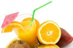 Frutas e cocktail Foto de Stock
