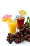 Frutas e cocktail Fotografia de Stock