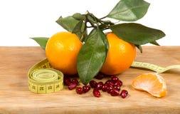 Frutas e dieta Fotografia de Stock Royalty Free