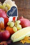 Frutas e legumes da colheita da queda da ação de graças Imagens de Stock
