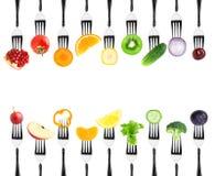 Frutas e legumes da cor ilustração do vetor
