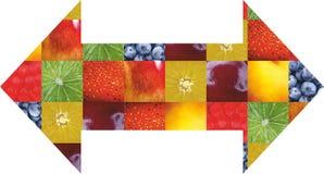 Frutas e legumes da cor Alimento fresco Conceito collage Foto de Stock