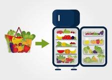 Frutas e legumes de compra Fotografia de Stock Royalty Free