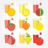 Frutas e legumes diferentes por cores Imagens de Stock Royalty Free