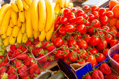 Frutas e legumes frescas Foto de Stock