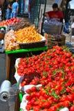 Frutas e mercado Imagem de Stock Royalty Free