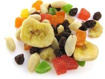 Frutas e porcas Fotografia de Stock Royalty Free