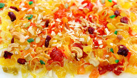 Frutas e porcas de Candie imagem de stock