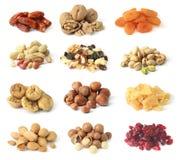 Frutas e porcas secadas Imagem de Stock Royalty Free