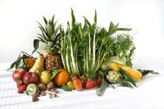 Frutas e salada Fotografia de Stock