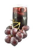 Frutas e suco da uva vermelha Imagens de Stock