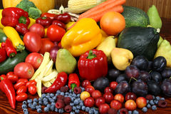 Frutas e verdura. Imagens de Stock Royalty Free