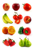 Frutas e verdura ajustadas Imagens de Stock