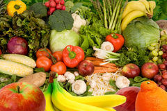 Frutas e verdura coloridas Fotos de Stock