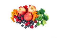 Frutas e verdura isoladas fotos de stock royalty free