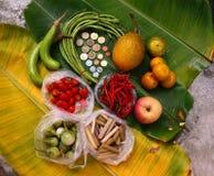 Frutas e verdura orgânicas Foto de Stock