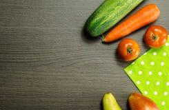 Frutas e verdura orgânicas imagem de stock