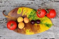 Frutas e verdura saudáveis Fotografia de Stock