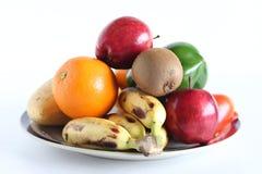 Frutas en blanco Foto de archivo libre de regalías