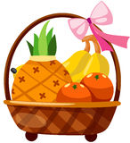 Frutas en cesta Fotografía de archivo libre de regalías