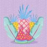 Frutas en colores pastel dinámicas Fotografía de archivo libre de regalías