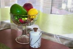 Frutas en el cristal Fotos de archivo