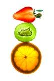 Frutas en equilibrio Imagenes de archivo