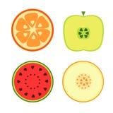 Frutas en un fondo blanco Fotos de archivo