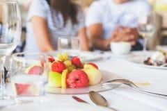 Frutas estacionales griegas Foto de archivo libre de regalías