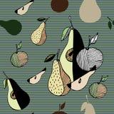 Frutas estilizadas del extracto foto de archivo